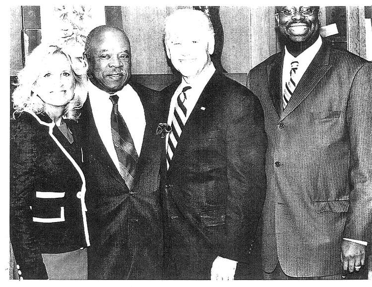Walt Palmer with Joe and Jill Biden, and Chad Lassiter