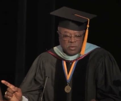 Walt Palmer speaking at the PALCS graduation in 2012