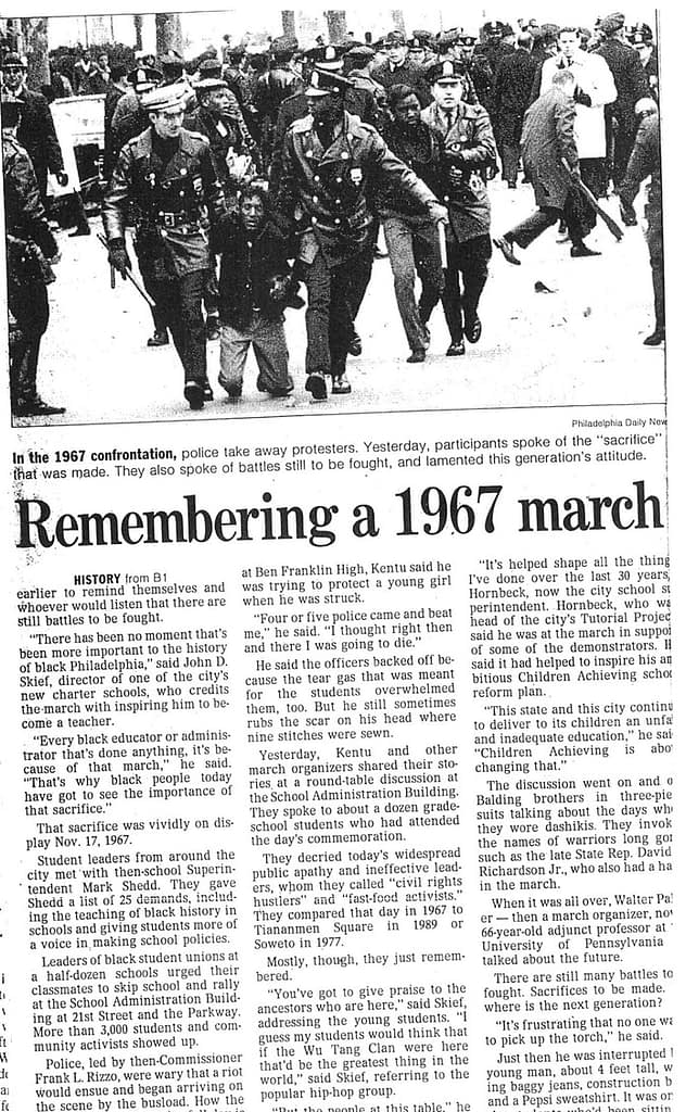 Philadelphia Daily News - Remembering a 1967 March, the most important moment in the history of Black Philadelphia